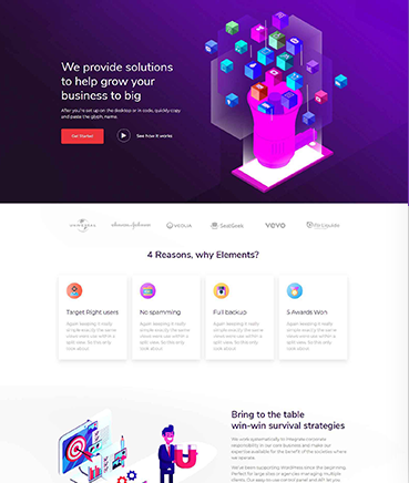 Marketing Landing Page Website Template