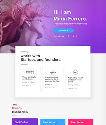 Portfolio Landing Page Website Template