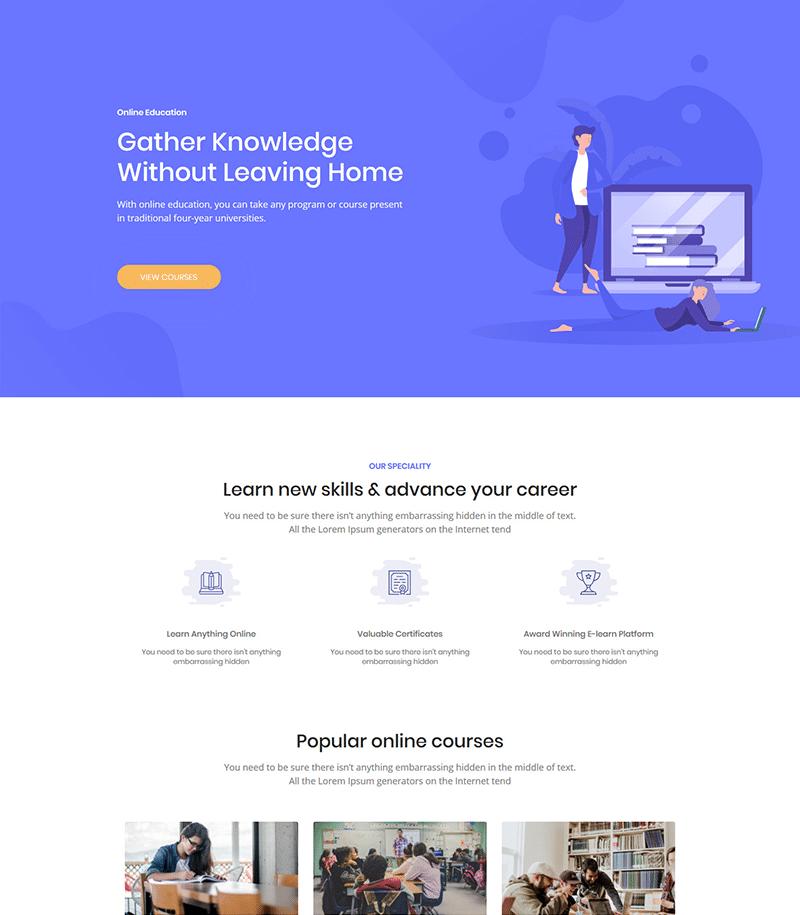 Education E-learning Website Template