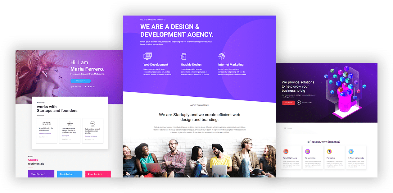 Layouts for Elementor Website Template
